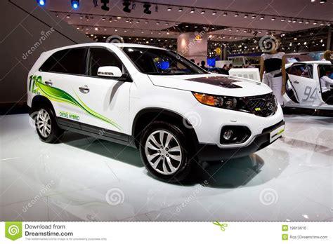 White Kia Car White Electric Car Kia Sorento Editorial Image Image