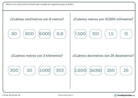matematicas cuarto de primaria ejercicios fichas ejercicios de matem 193 ticas para ni 241 os de primaria