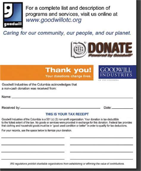 printable goodwill donation receipt 13 goodwill donation receipt sle templates