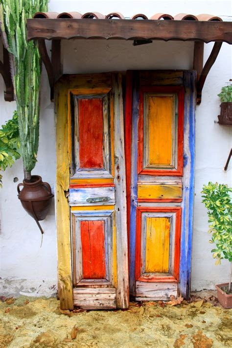 colorful door mexican doors doors gates pinterest