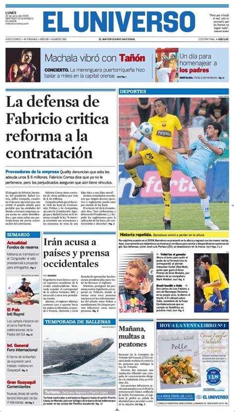 noticias el universo newspaper el universo ecuador ecuador newspapers in