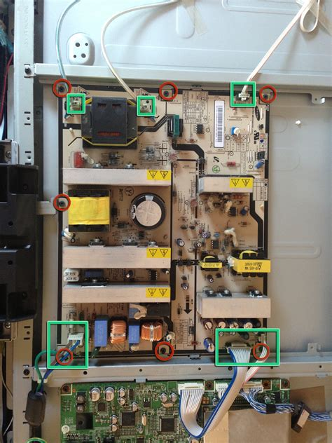 Power Suplay Psu Tvsamsung Led Lcd removing the samsung la40r81bd 40in lcd tv power supply