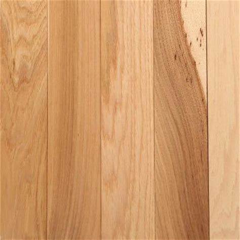 bruce hickory country natural 3 4 in thick x 2 1 4 in width x random length solid hardwood