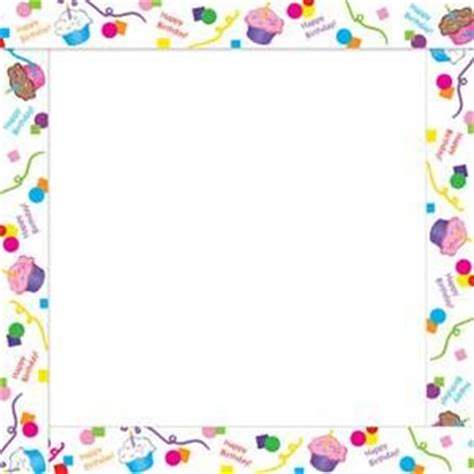 Wedding Border Twinkl by Birthday Cake Page Borders Frames Free Images