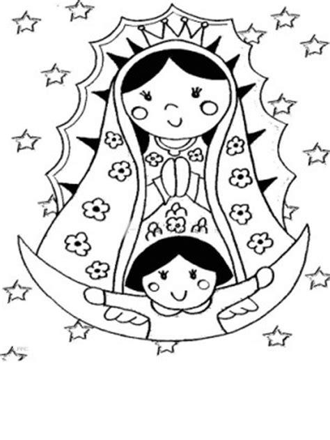 10 Imagenes De La Virgen De Guadalupe Para Colorear Imagen De La Virgen De Guadalupe Para Colorear