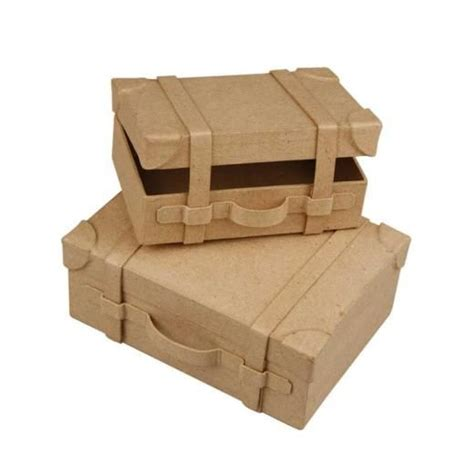 Cardboard Paper Craft - creativ paper mache suitcases cardboard boxes from craft