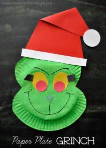 paper plate grinch craft i heart crafty things