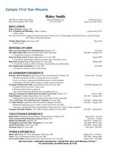 Sle Resume For Undergraduate Students by Duke Resume