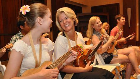 ukulele lessons at aulani d23 celebrates five years of hawaiian magic at aulani d23