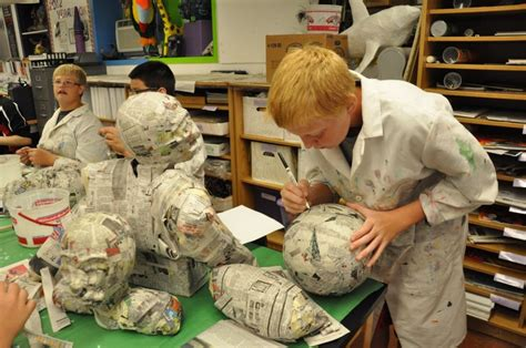 How To Make A Paper Mache Football - elgin schools 2013 8th grade paper mache