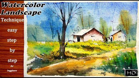 tutorial watercolor landscape watercolor landscape tutorial how to paint a simple
