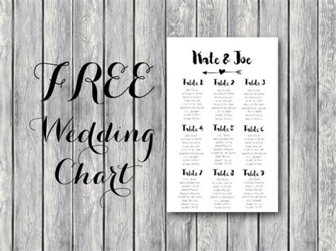 Free Arrow Wedding Seating Chart Template Bride Bows Wedding Seating Chart Template Printable