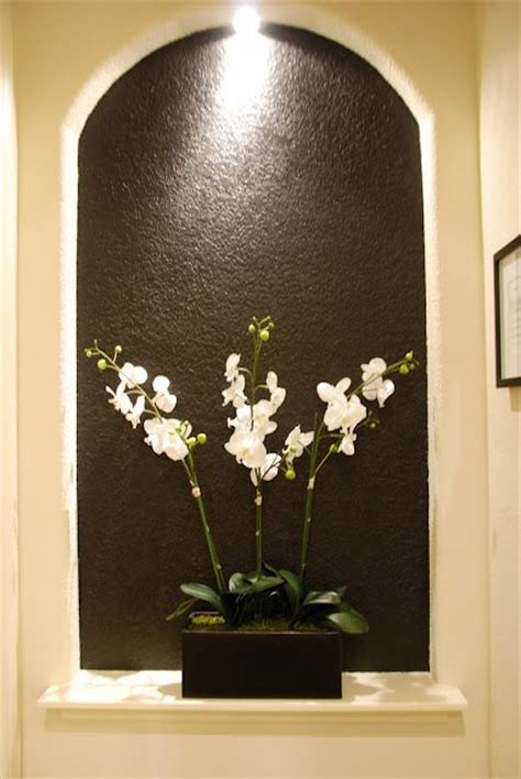 Decorating Ideas For Wall Niches Brown Niche Home Decor Ideas