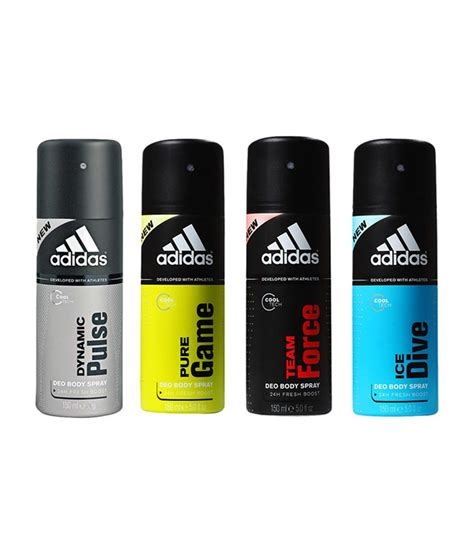 Adidas Deodorants For Men Combo Pack Of 4 Assorted | adidas deodorants for men combo pack of 4 assorted