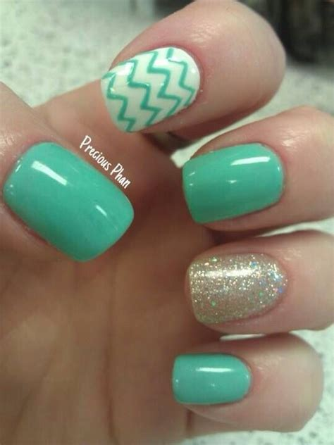 mint color nails 14 colored nails you would like to try this season