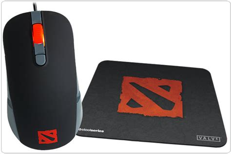 Mouse Gaming Dota 2 steelseries kana gaming mouse and qck mini