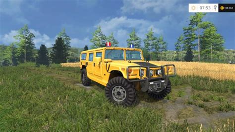 H1 Ls by Hummer H1 With Blue Light Ls15 Mod Mod For Farming