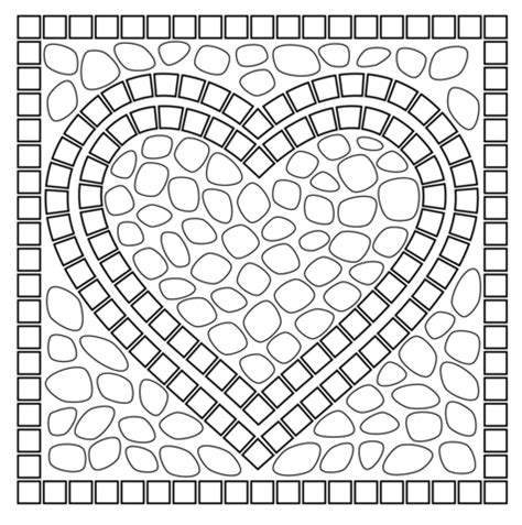 large mosaic page coloring sheets coloring pages