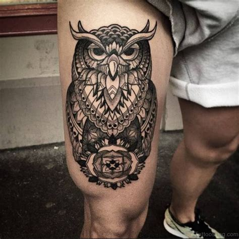 owl thigh tattoos 39 exciting owl tattoos for thigh