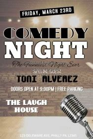 Comedy Poster Template by Customizable Design Templates For Comedy Postermywall