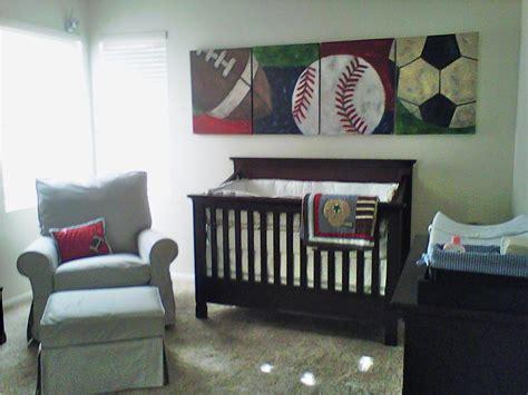 Baby nursery decor green wallpaper baby boy sports