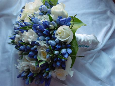 Flower Bouquet For Wedding by Wedding Flowers Blue Wedding Bouquet Flowers