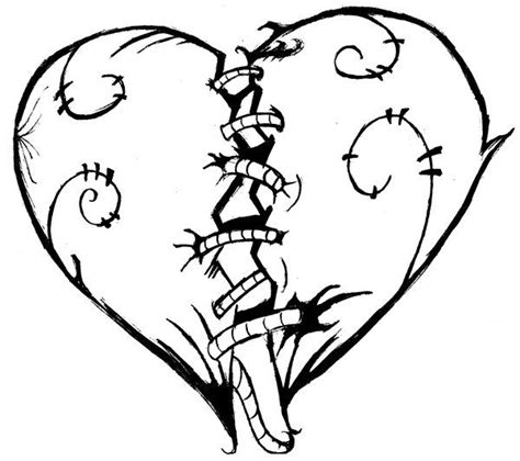 Galerry graffiti heart coloring page