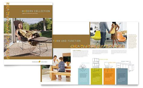 Shoe Home Decor by Furniture Store Brochure Template Design