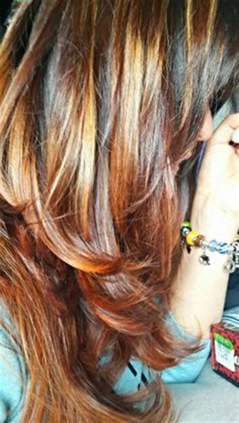 hairstyles with orange highlights highlighted hairstyles on pinterest highlighted
