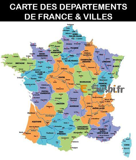 carte de france par departement  ville altoservices