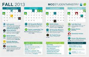 youth ministry calendar template student ministry fall calendar marin covenant church