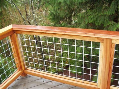 hog fence wire mesh panels surrounded by cedar or