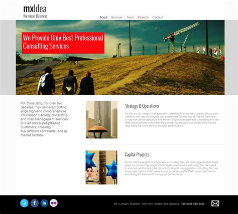 Consulting Firm Website 2 Business Consulting Website Templates
