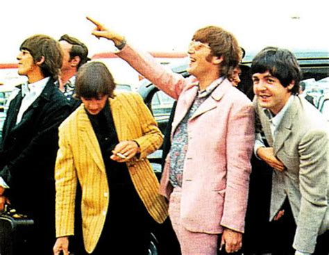 in color tour retro vintage mod style the beatles colorful jackets
