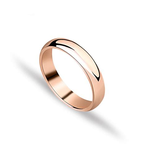 gold plated unisex ring fashion simple finger ring