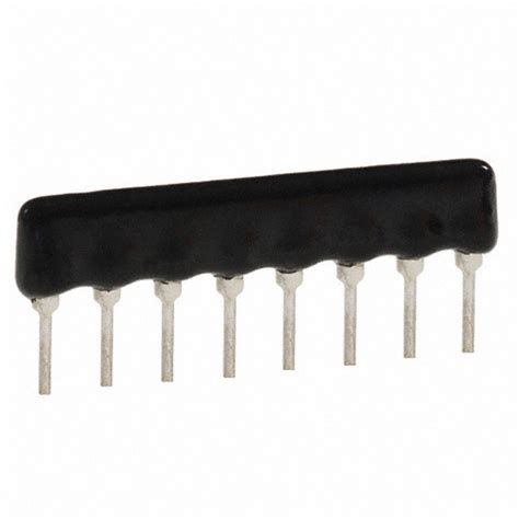 through resistor array 77081681 datasheet specifications resistance ohms 680 tolerance