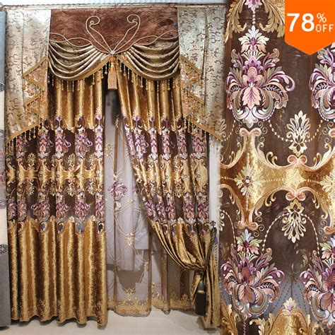 golden brown curtains golden brown coffee color drape drapry luxury classical