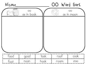 oo pattern words oo word family sort google search education