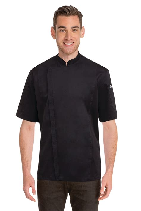 design uniform jacket chef works springfield mens black zipper chef jacket