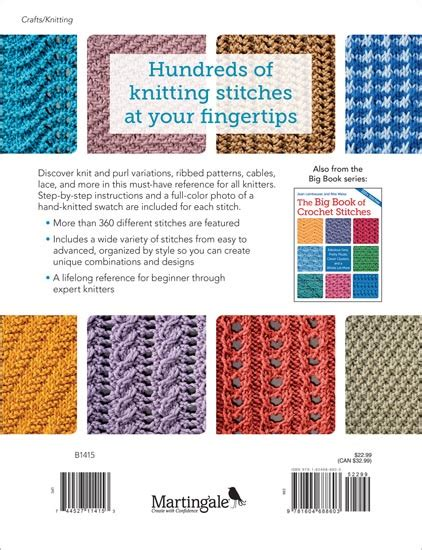 knitting guide pdf martingale the big book of knit stitches print version ebook bundle