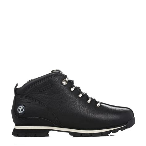 timberland mens ankle boots black splitrock leather lace