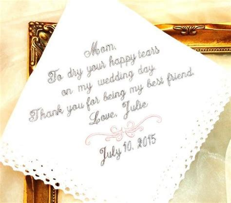 Wedding Gift For Mother Of The Bride Handkerchief   To Dry