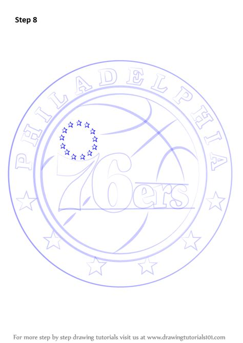 76ers Coloring Page by Learn How To Draw Philadelphia 76ers Logo Nba Step By