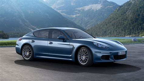 blue porsche panamera blue porsche panamera turbo s 2014 on the road wallpapers