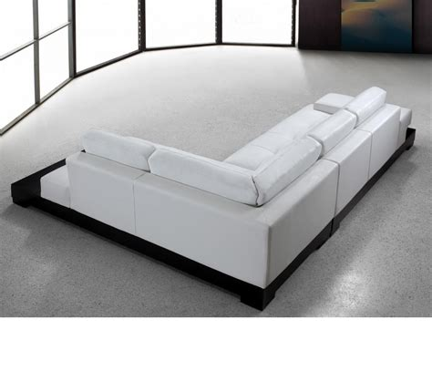 Sectional Sofas Furniture Dreamfurniture Modern White Leather Sectional Sofa