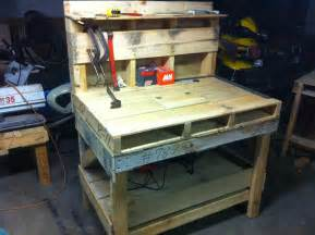 how to make a tool bench pallet work bench