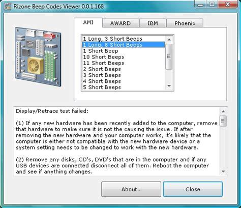reset bios effect bios beep codes free download downloads freeware
