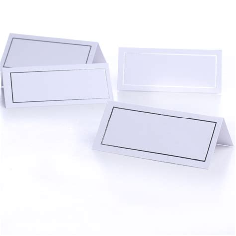 computer printable postcards 72 printable white silver border place cards placecards