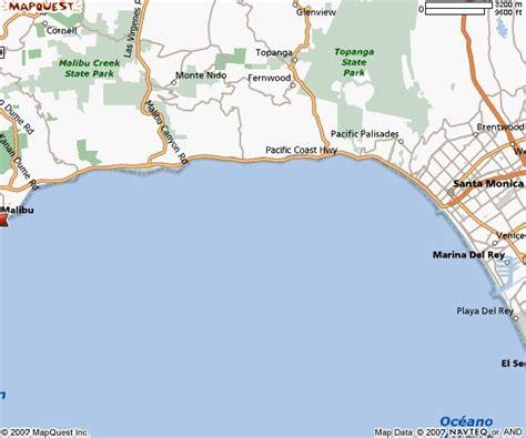 california map malibu maps of malibu california