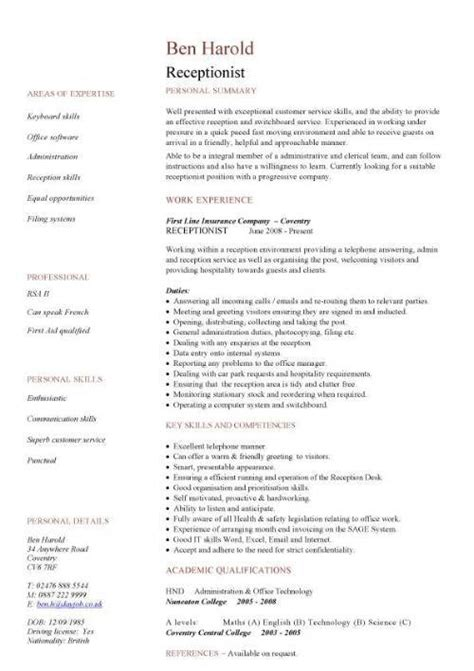 Sponsorship Letter New Zealand Receptionist Resume Description Sle Of Background Within 21 Excellent Template For